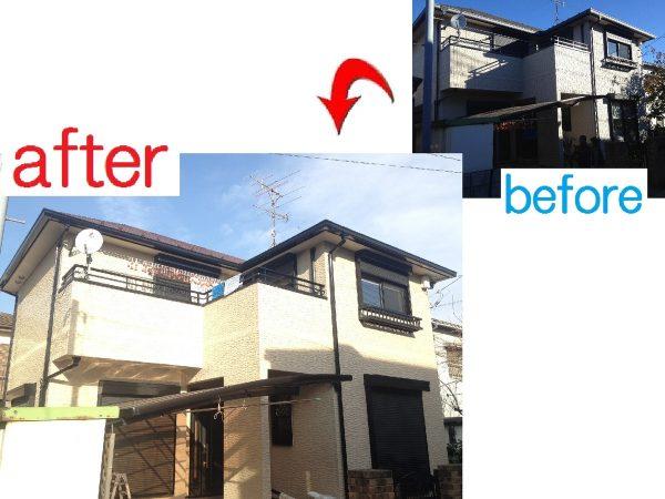 千葉市美浜区 外壁屋根塗装工事 H様邸
