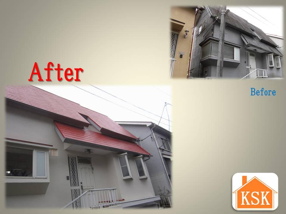 """屋根+外壁リフォームで""""消え物""""の代金を節約"""