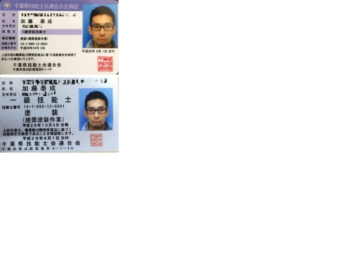 各種認定免許証