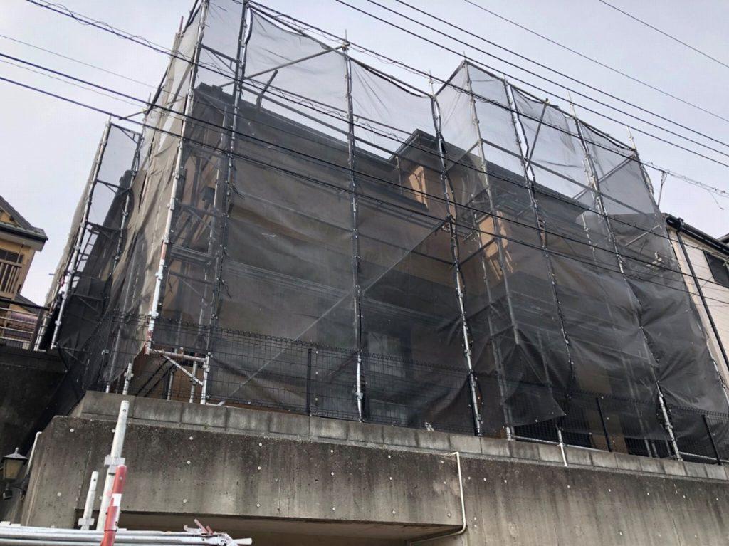 外壁塗装 屋根塗装 防水 足場仮設 メッシュシート