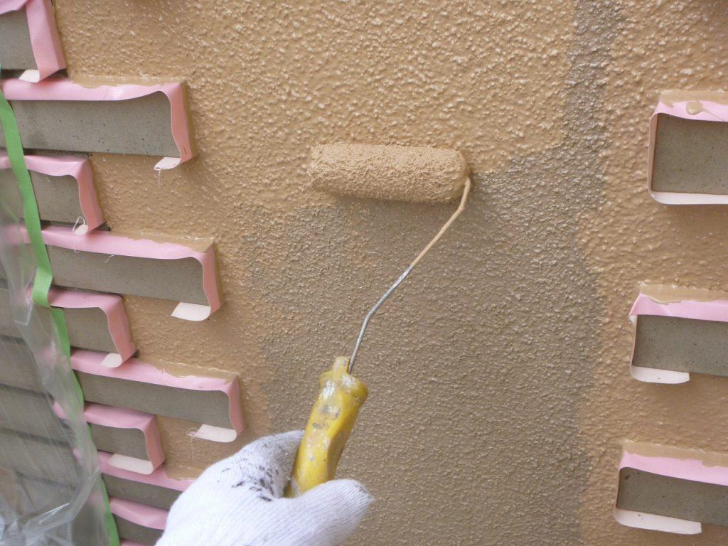 外壁塗装 外塀 中塗り アレスダイナミックTOP
