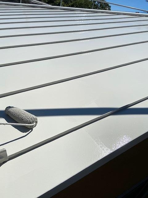 屋根塗装 上塗り プラチナ無機ルーフ 遮熱