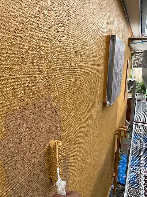 外壁塗装 中塗り ビーズコートフレッシュ