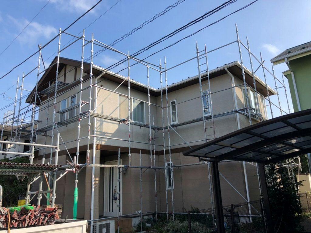 足場仮設 外壁塗装 屋根塗装