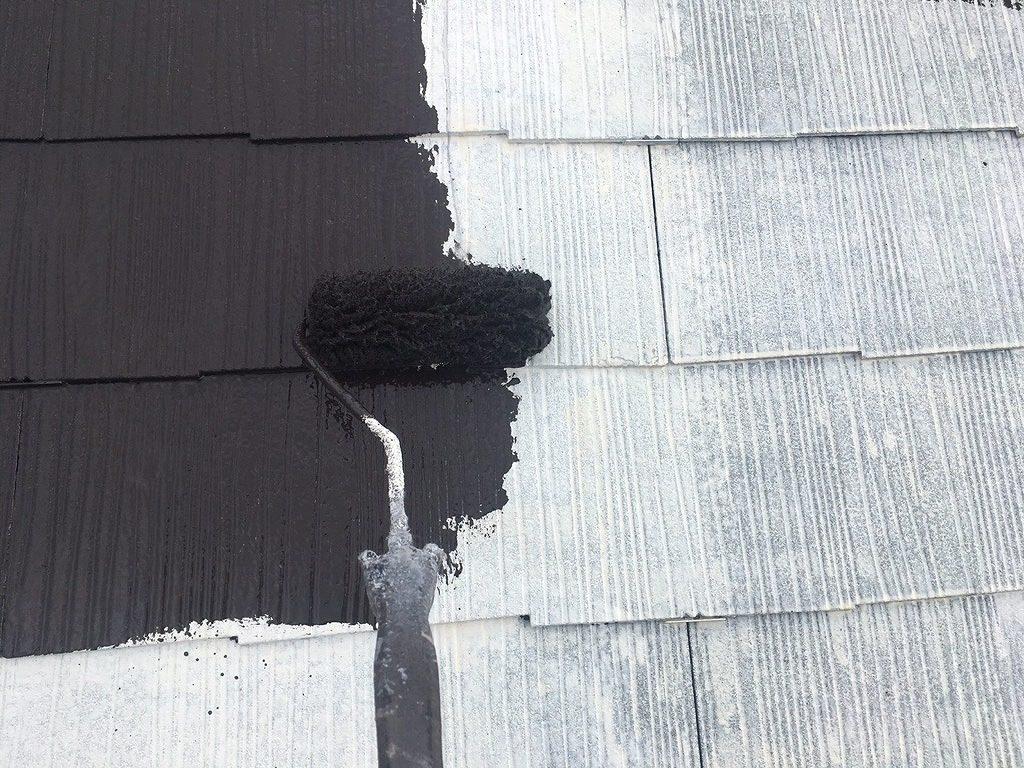屋根塗装 中塗り サーモアイSi