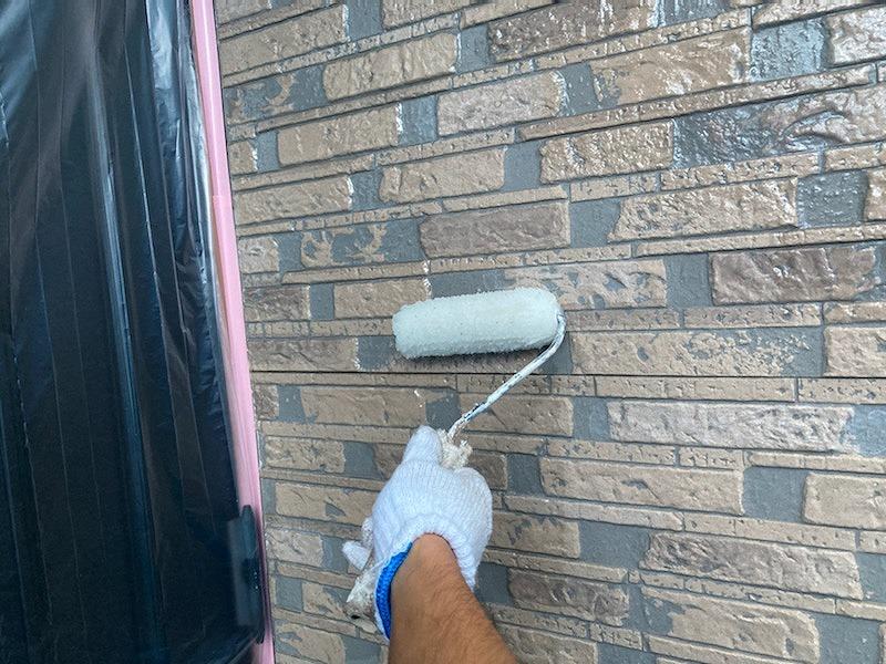 外壁塗装 下塗り 上塗り UVプロテクトクリヤー