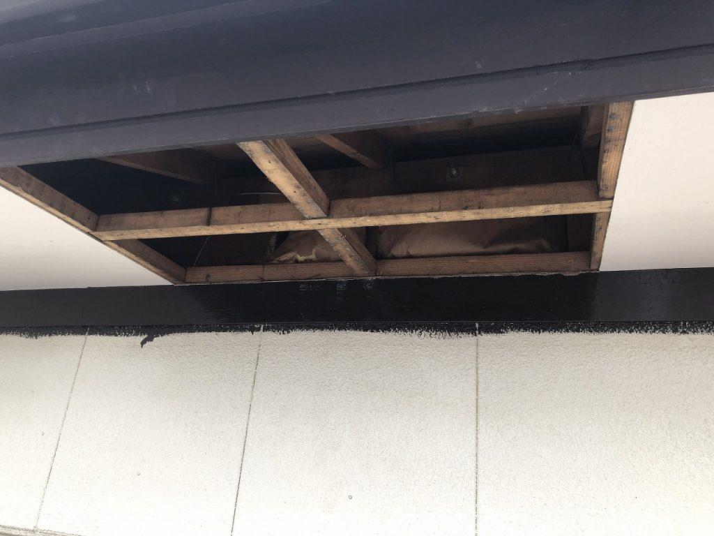 軒天井 張替え工事