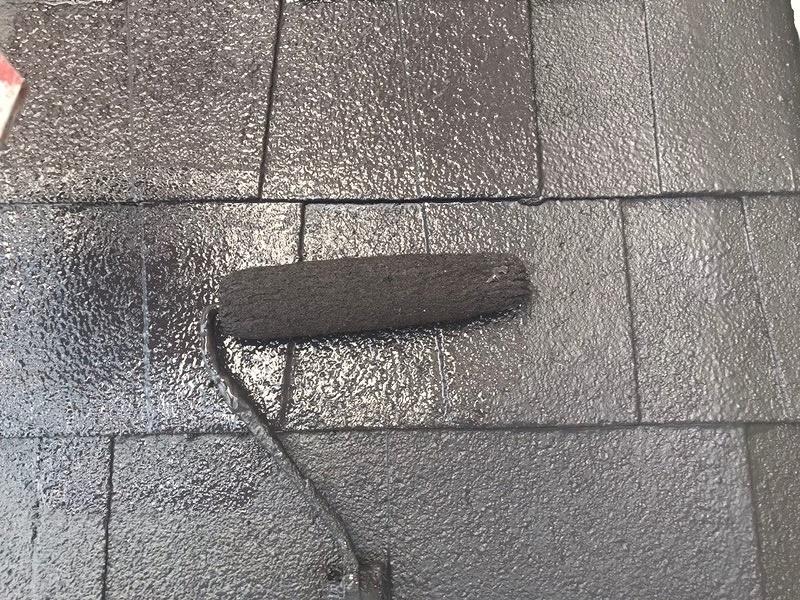 屋根塗装 上塗り ニッペ水性シリコンベスト