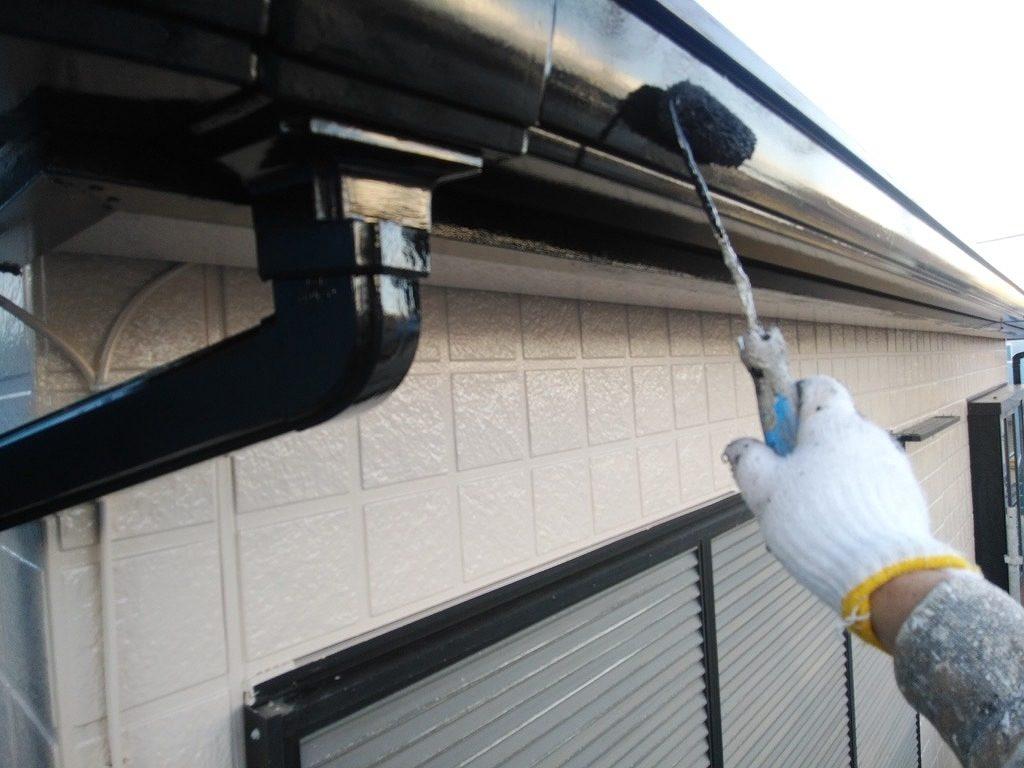 付帯部塗装 破風 雨樋 ファインパーフェクトトップ