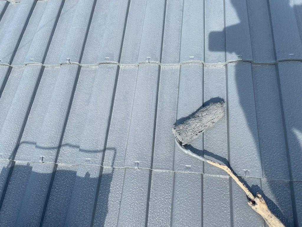 屋根塗装 上塗り 水系ナノシリコン