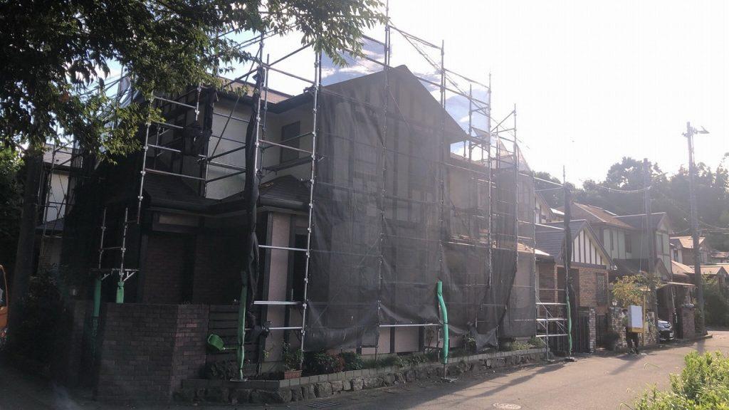 足場 外壁塗装 屋根塗装 防水