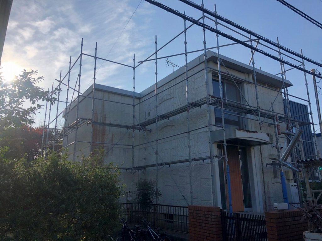 足場 外壁塗装 屋根塗装 付帯部塗装 防水