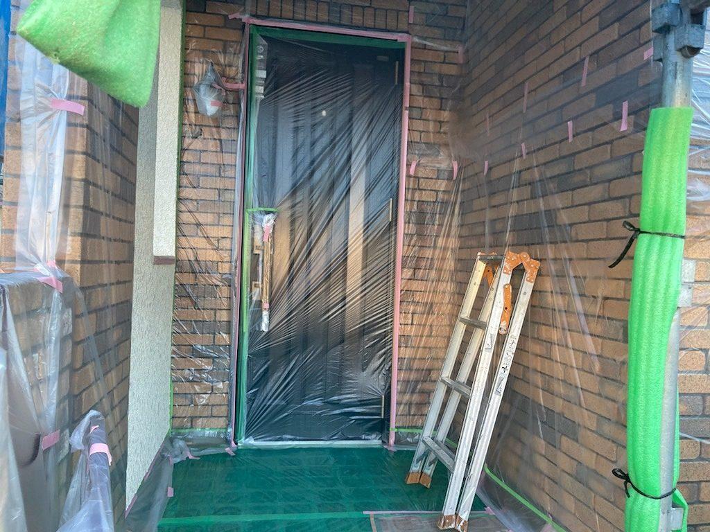 養生 保護 外壁塗装 付帯部塗装