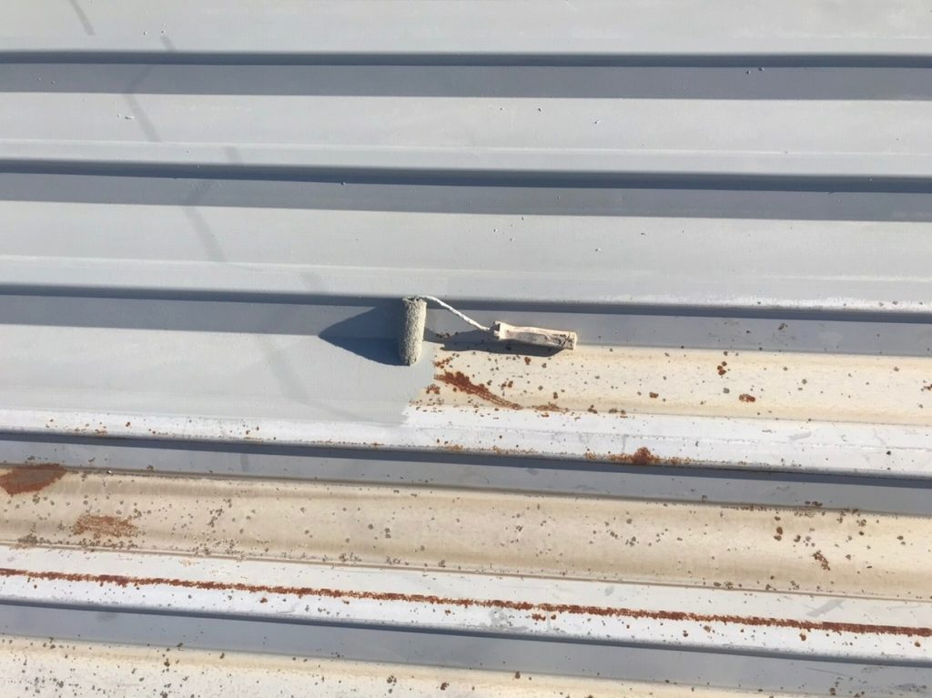 屋根塗装 下塗り 錆止め ハイポンデクロ