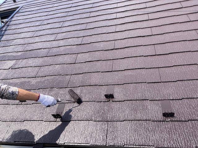 屋根塗装 スレート瓦 中塗り プラチナルーフバインダー