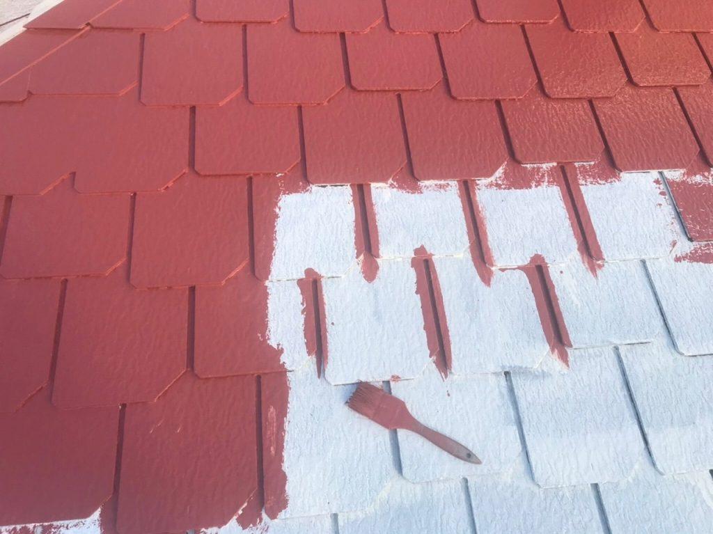 屋根塗装 中塗り ファインパーフェクトベスト