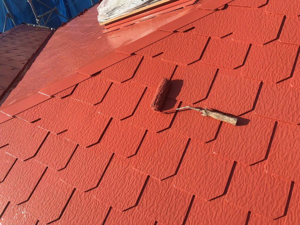 屋根塗装 上塗り ファインパーフェクトベスト