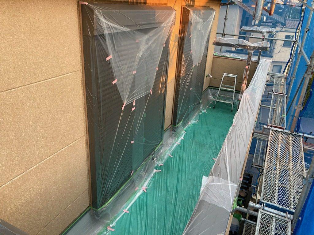養生 保護 外壁塗装
