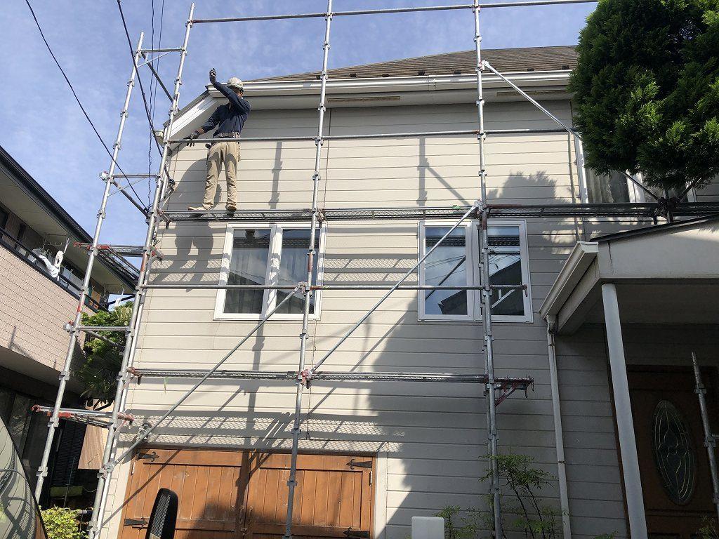 足場 外壁塗装 屋根塗装 付帯部塗装