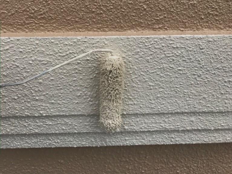 外壁塗装 上塗り モルタル 幕板 プラチナ無機コート