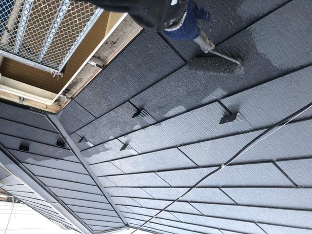 屋根塗装 新生スレート瓦 中塗り ファインパーフェクトベスト