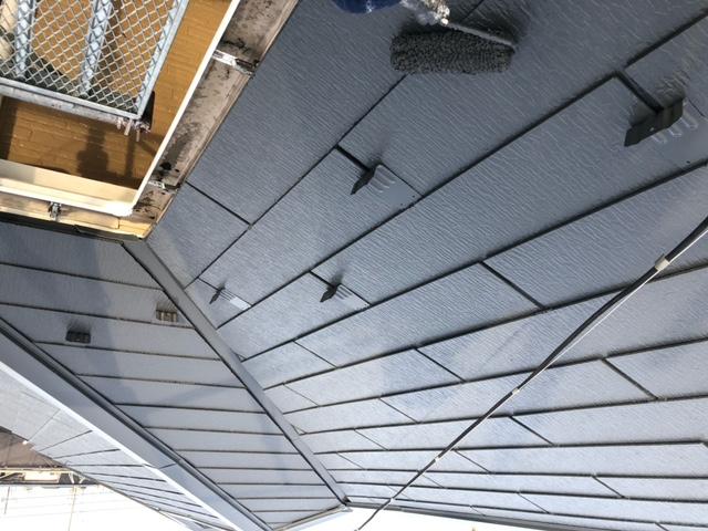 屋根塗装 新生スレート瓦 上塗り ファインパーフェクトベスト