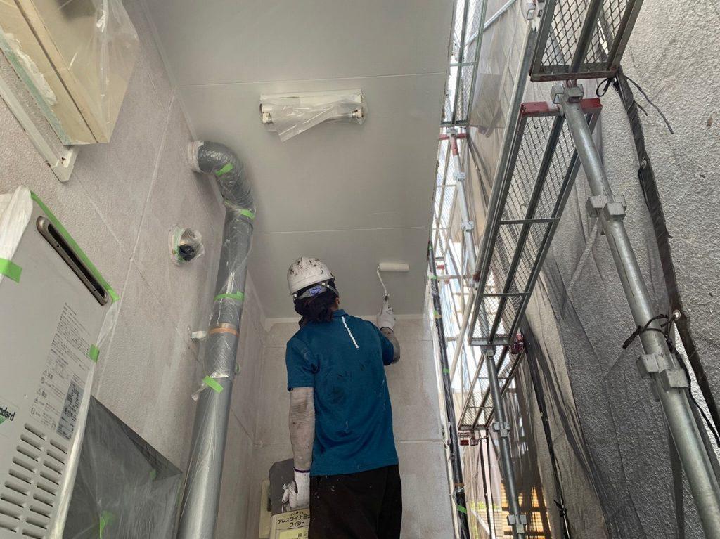共用部 廊下 天井 2回塗り ファインパーフェクトトップ