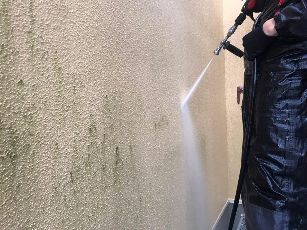 高圧洗浄 外壁塗装 モルタル 屋根重葺 新生スレート瓦