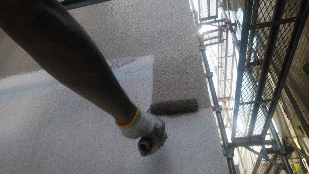 外壁塗装 モルタル 3回塗り 中塗り アレスダイナミックトップ