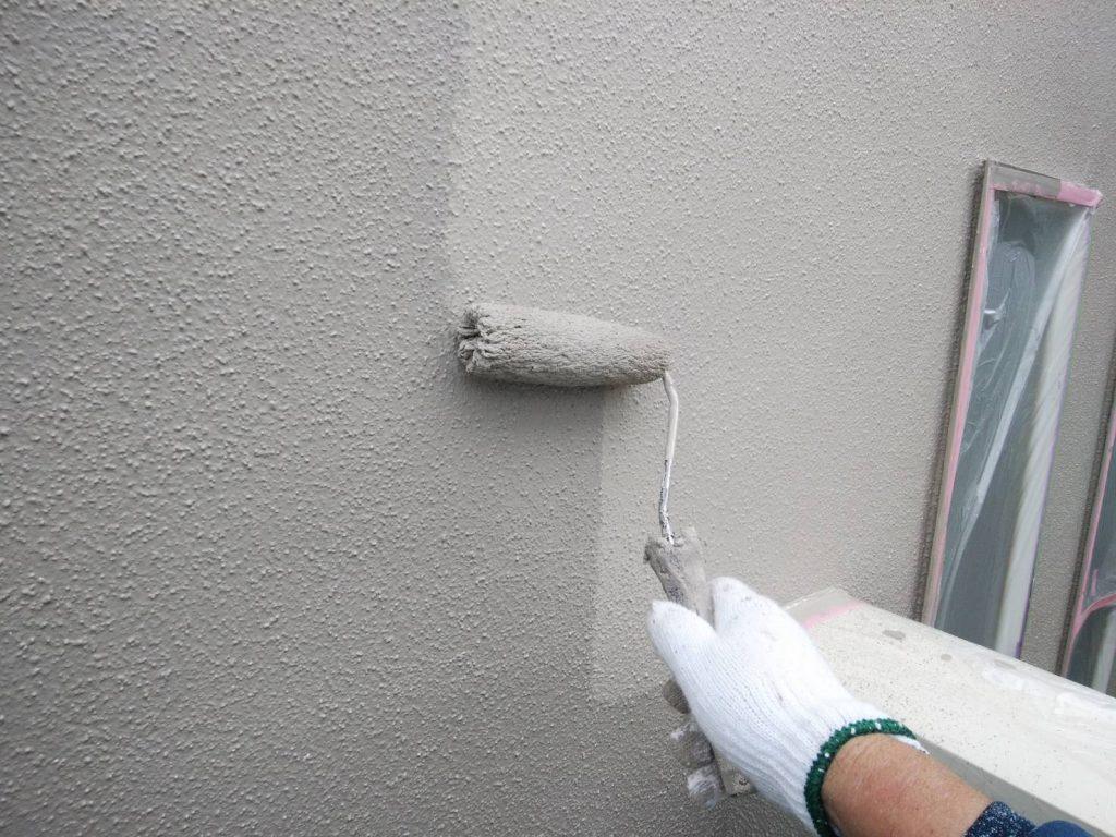 外壁塗装 モルタル 3回塗り 上塗り アレスダイナミックトップ