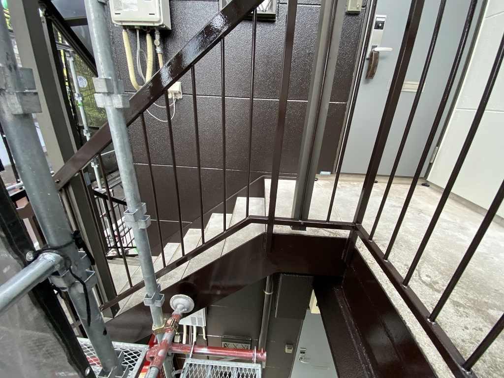 検査 外壁 ALC 廊下 鉄部 階段