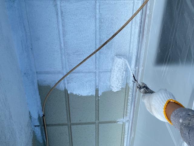 外壁塗装 ALC 3回塗り 下塗り アレスダイナミックフィラー