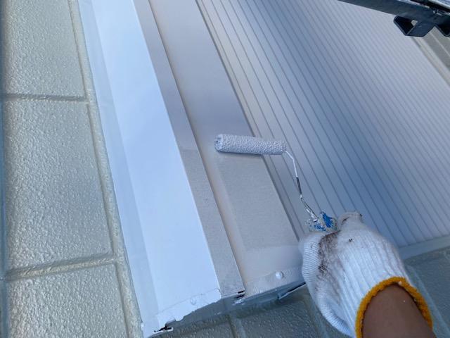 シャッターBOX 鉄部 錆止め 2回塗り ファインパーフェクトトップ