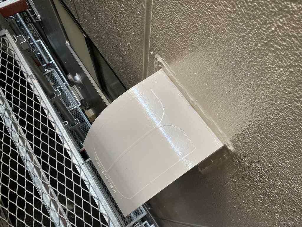 検査 外壁 ALC 鉄部 換気フード