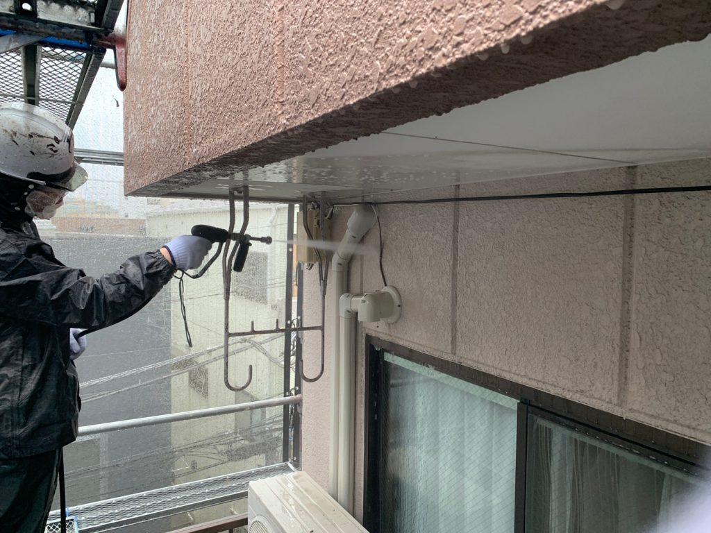 高圧洗浄 外壁塗装 共用部塗装