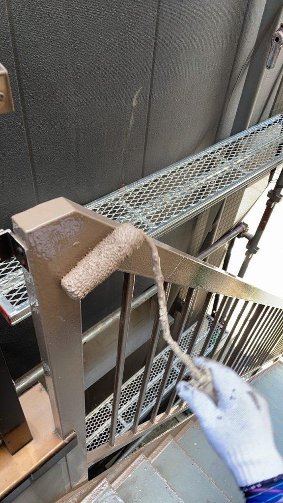 鉄部 手摺 錆止め 2回塗り ファインパーフェクトトップ