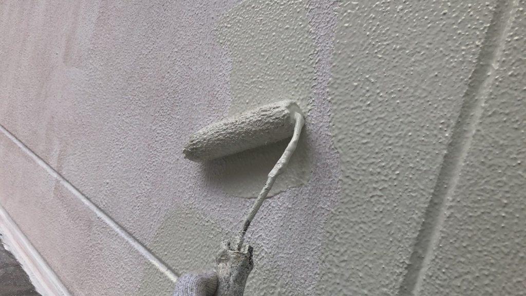 外壁塗装 ALC 3回塗り 中塗り アレスダイナミックトップ