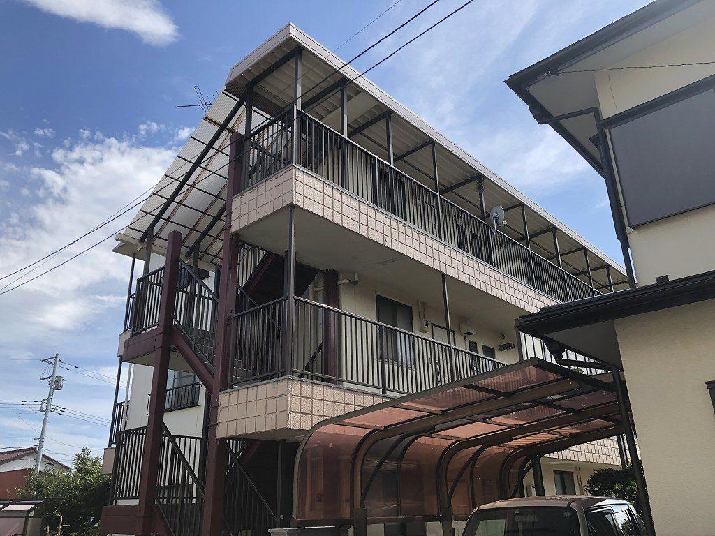 千葉市 アパート 外壁塗装 ALC 屋上防水 陸屋根 シーリング ウレタン防水