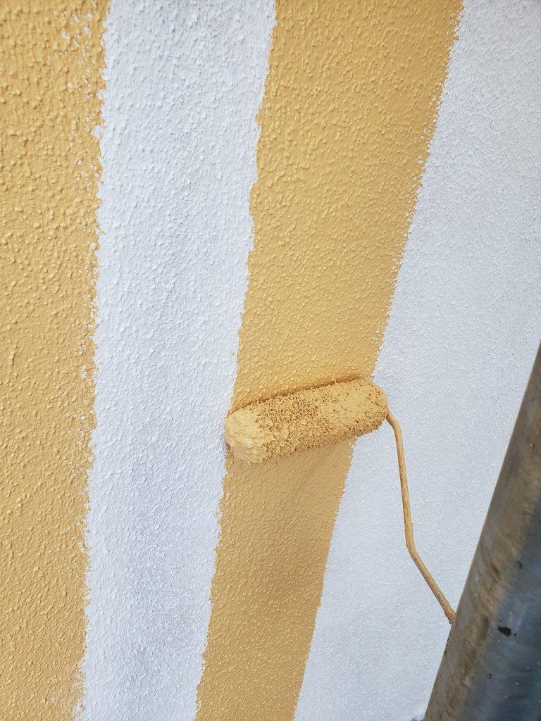 外壁塗装 モルタル 3回塗り 中塗り プラチナ無機バインダー