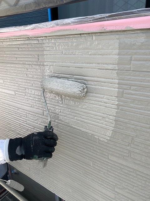 外壁塗装 窯業サイディング 2回塗り 上塗り プラチナ無機コート