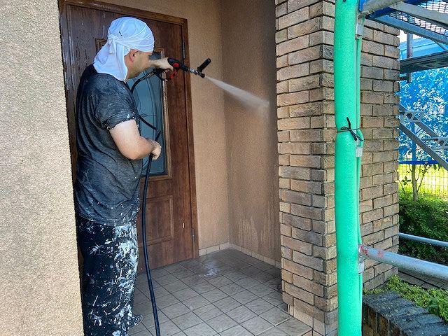 高圧洗浄 外壁塗装 モルタル