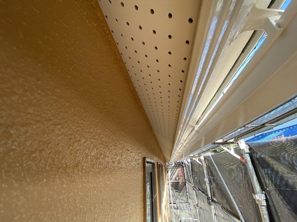 検査 軒天井 外壁 モルタル