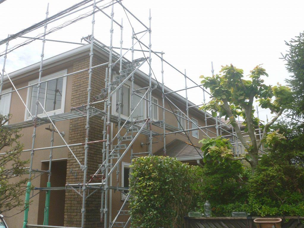 足場 外壁塗装 窯業サイディング モルタル 屋根塗装 新生スレート瓦