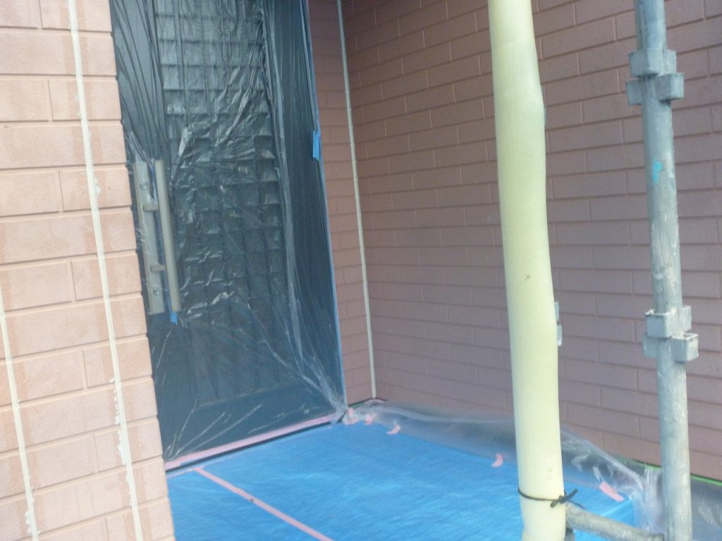 養生 外壁塗装 窯業サイディング モルタル