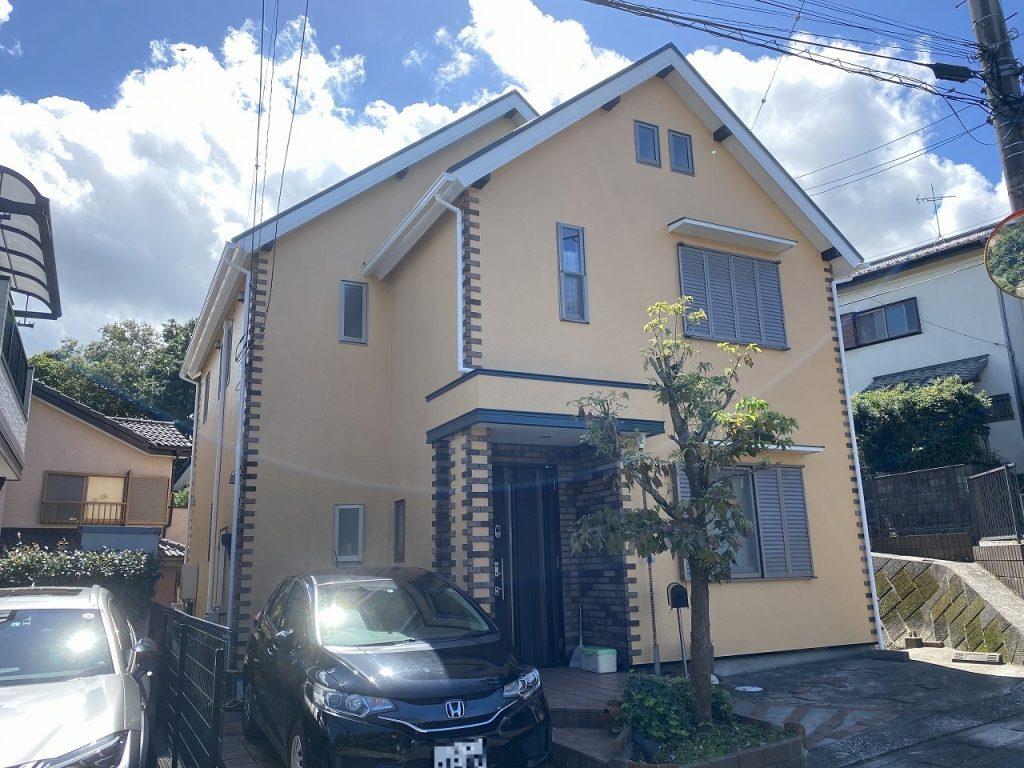千葉市 外壁塗装 モルタル 屋根塗装 新生スレート瓦 付帯部塗装