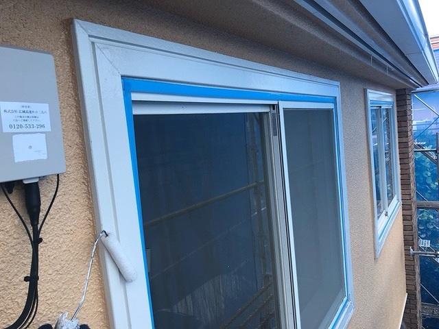 窓回り 2回塗り ファインパーフェクトトップ