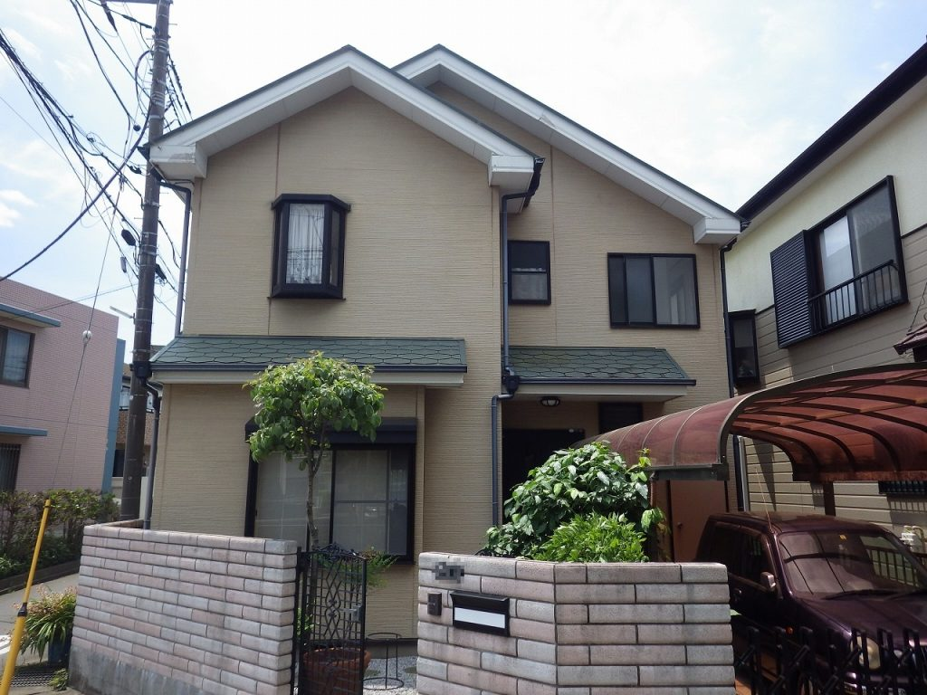 千葉市 外壁塗装 窯業サイディング 屋根塗装 新生スレート瓦 シーリング コーキング 付帯部塗装