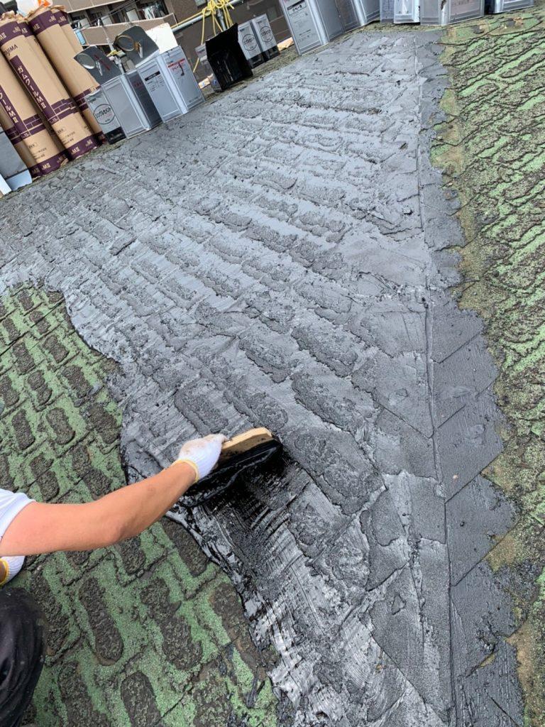 屋根重葺 アスファルトシングル 下地調整 ウレタン防水
