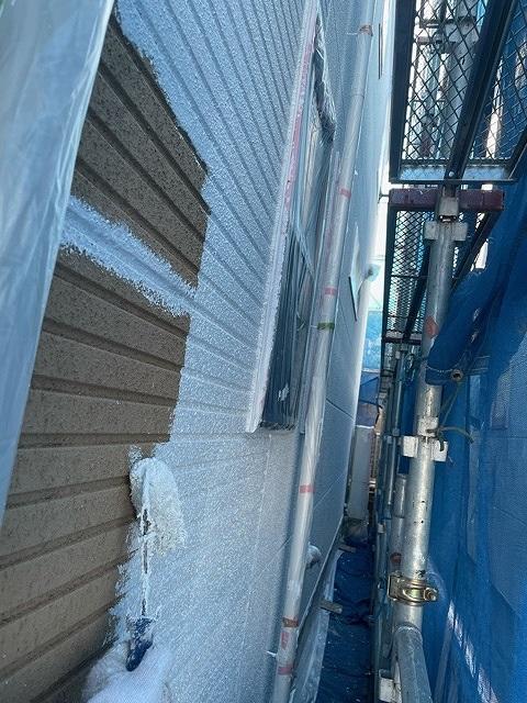 外壁塗装 ALC 3回塗り 下地調整 下塗り アレスダイナミックフィラー