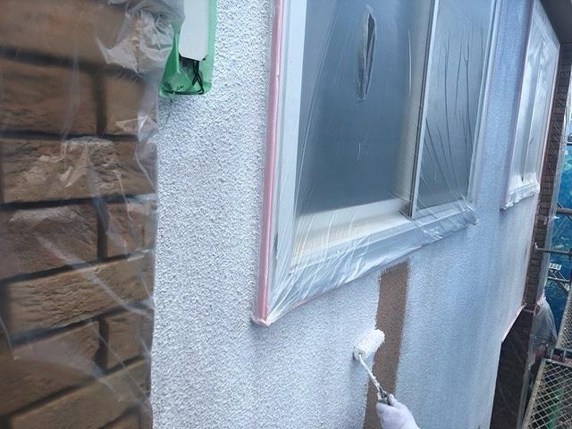 外壁塗装 モルタル 3回塗り 下塗り セミフロンフィラー